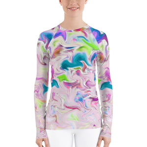 Pink Abstract Sun Shirt - Pink Abstract UPF Shirt - Pink UPF Shirt - Abstract Rash Guard