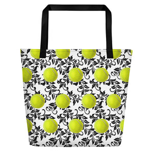 Beach Bag - Tennis Tote - Tennis Tote bag - Tennis Bag - Tennis Lover - Tennis Gift
