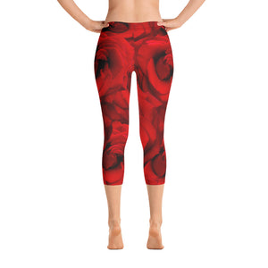 Capri Leggings - Roses