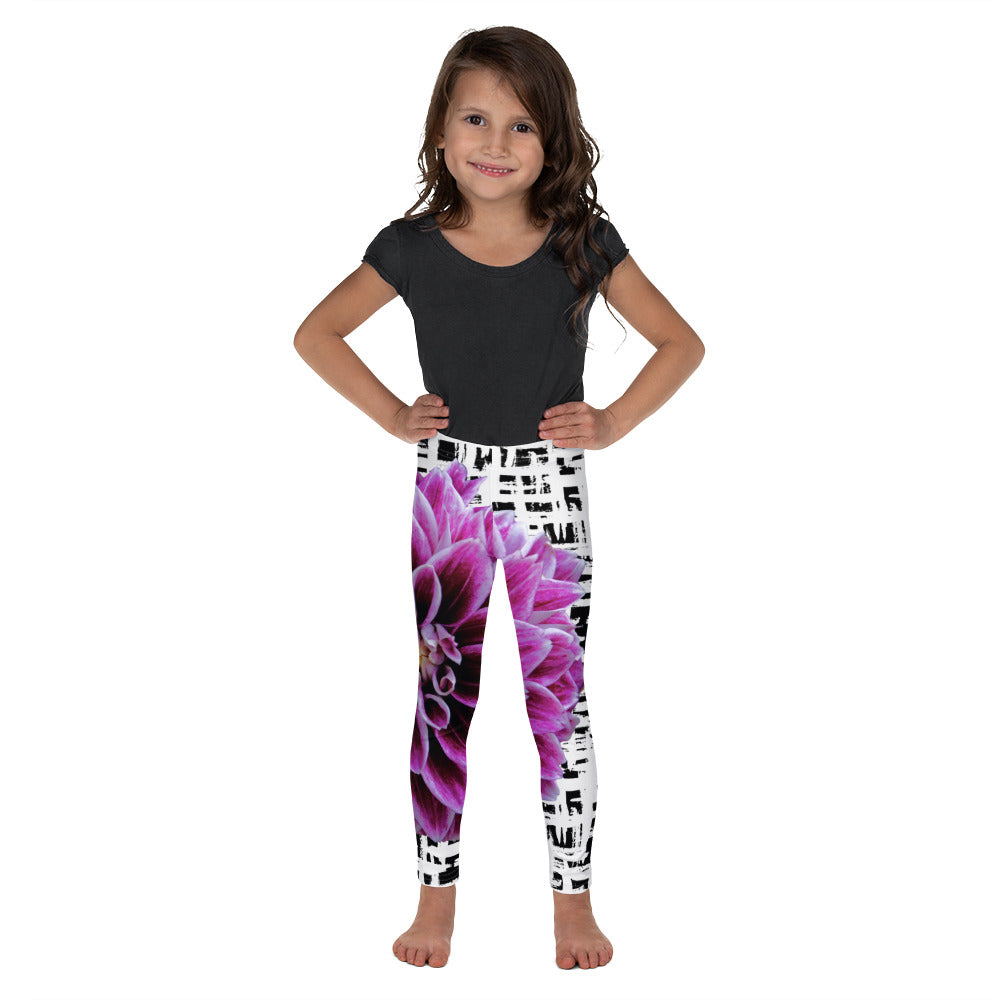 Kid's Leggings - Purple Dahlia