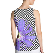 Load image into Gallery viewer, Passion Flower Tank Top - Floral Tank Top - Purple Flower Tank Top