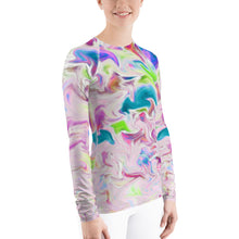 Load image into Gallery viewer, Pink Abstract Sun Shirt - Pink Abstract UPF Shirt - Pink UPF Shirt - Abstract Rash Guard