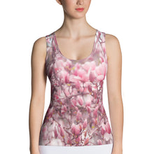 Load image into Gallery viewer, Sublimation Cut & Sew Tank Top - Japanese Magnolias - Saucer Magnolias - Pink Floral - Jane Magnolias