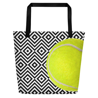 Beach Bag- Tennis Theme - Tennis Ball - Tennis Bag