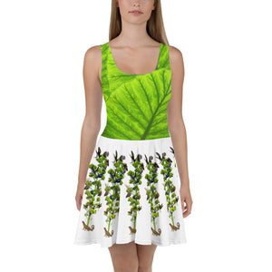 Skater Dress - Fun tropical scene, winter scene, and tree with all sorts of fun animals (Squirrel, caterpillar, Booby Birds and more!)