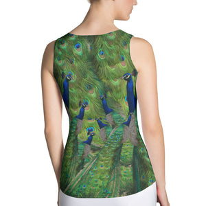 Peacock Sports Tank Top - Peacocks and Peacock Feathers