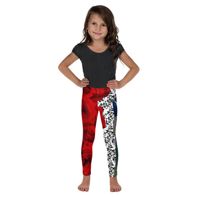 Kid's Leggings - Peacock and Roses