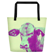 Load image into Gallery viewer, Cow Tote Back: Scott Herndon Photography