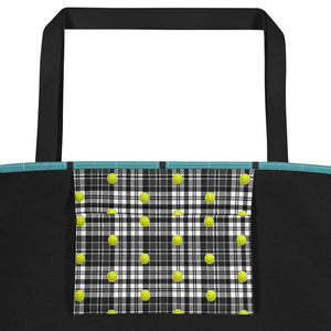Tennis Tote Bag - Tennis Bag - Tennis Theme Tote - Tennis Gift