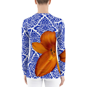 Orange and Blue - Gator Fan - Gator Shirt- Rash Guard - Swim Shirt - UPF Shirt