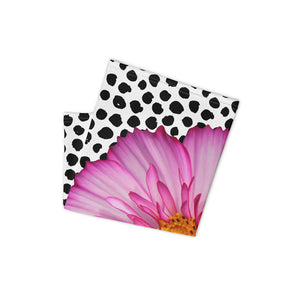 Neck Gaiter - Pink Flower - Polka Dots - Floral - Flower