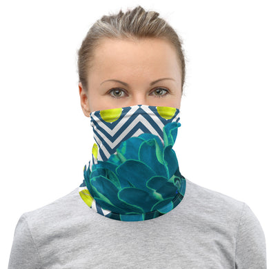Neck Gaiter - Turquoise - Face Protection - Face Mask - Tennis - Tennis Gift - Tennis Lover - Tennis Theme - Tennis Ball
