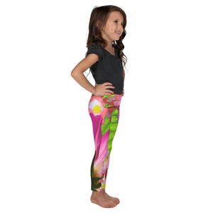 Kid's Leggings - Pink Peacock Leggings