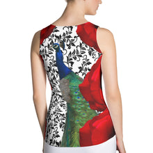 Load image into Gallery viewer, Rose and Peacock Tennis Tank Top