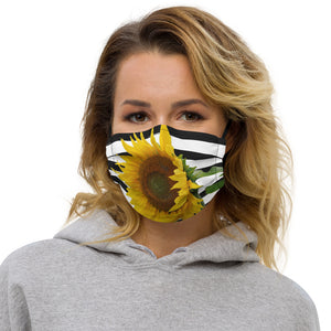 Premium face mask- Sunflower - flower - floral - yellow flower