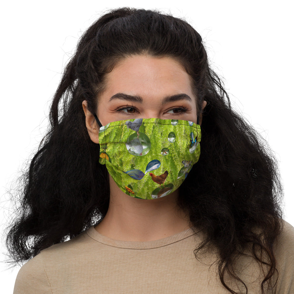 Premium face mask - Silly Mask - Fish - Ferns - Chicken - Flowers - Bubbles