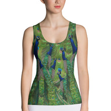 Load image into Gallery viewer, Peacock Sports Tank Top - Peacocks and Peacock Feathers