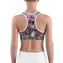 Load image into Gallery viewer, Sports bra - Japanese Magnolia - Saucer Magnolia - Jane Magnolia