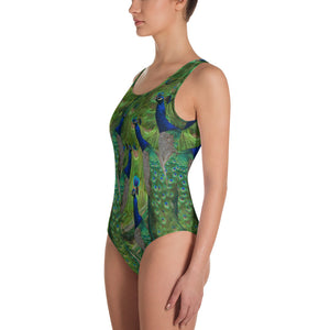One-Piece Swimsuit / Bathing Suit - Peacocks Galore!