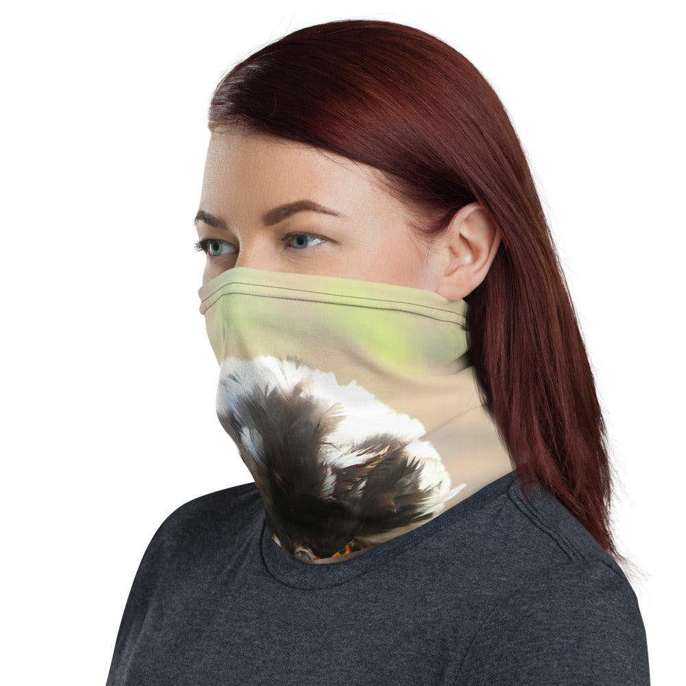 Neck gaiter - funny, playful chicken neck face mask, face shield
