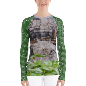 Women's Rash Guard - Women's Fishing Shirt - Women's UPF Shirt - Gator Shirt