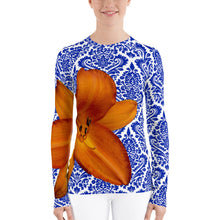 Load image into Gallery viewer, Orange and Blue - Gator Fan - Gator Shirt- Rash Guard - Swim Shirt - UPF Shirt
