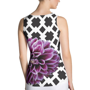 Purple Dahlia Tank Top - Purple Flower Tank Top - Floral Tank Top