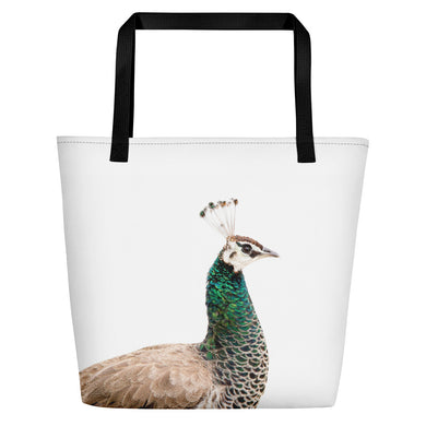 Portuguese Peacock Tote Bag: Scott Herndon Photography