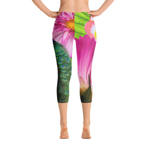 Capri Leggings - Tropical Peacock Print
