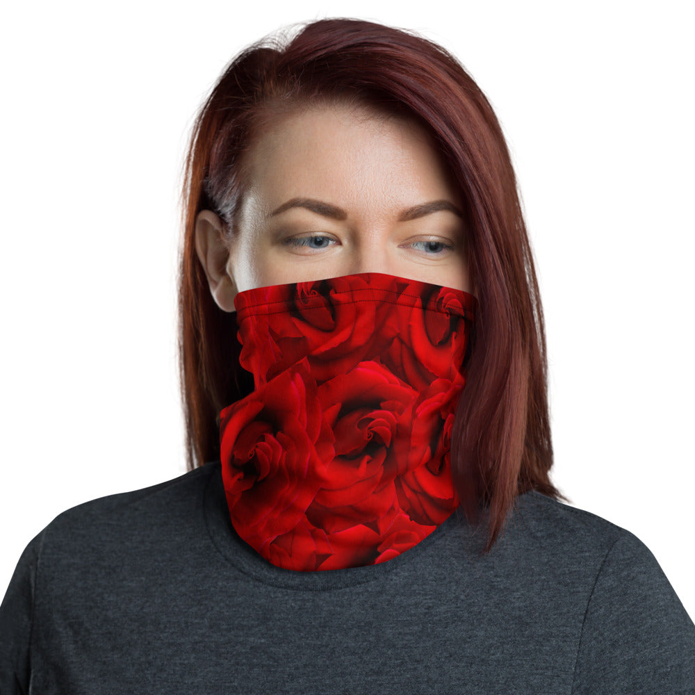 Neck gaiter- Roses are Red, Face Shield, Face Mask, Rose, Roses, headband