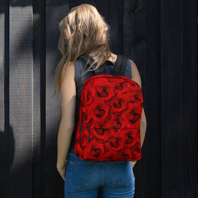All-Over Print Backpack - Beautiful Red Roses - Roses are Red