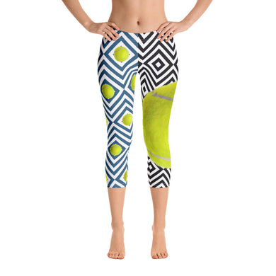 Capri Leggings - Tennis Leggings- Tennis Ball - Tennis Pants