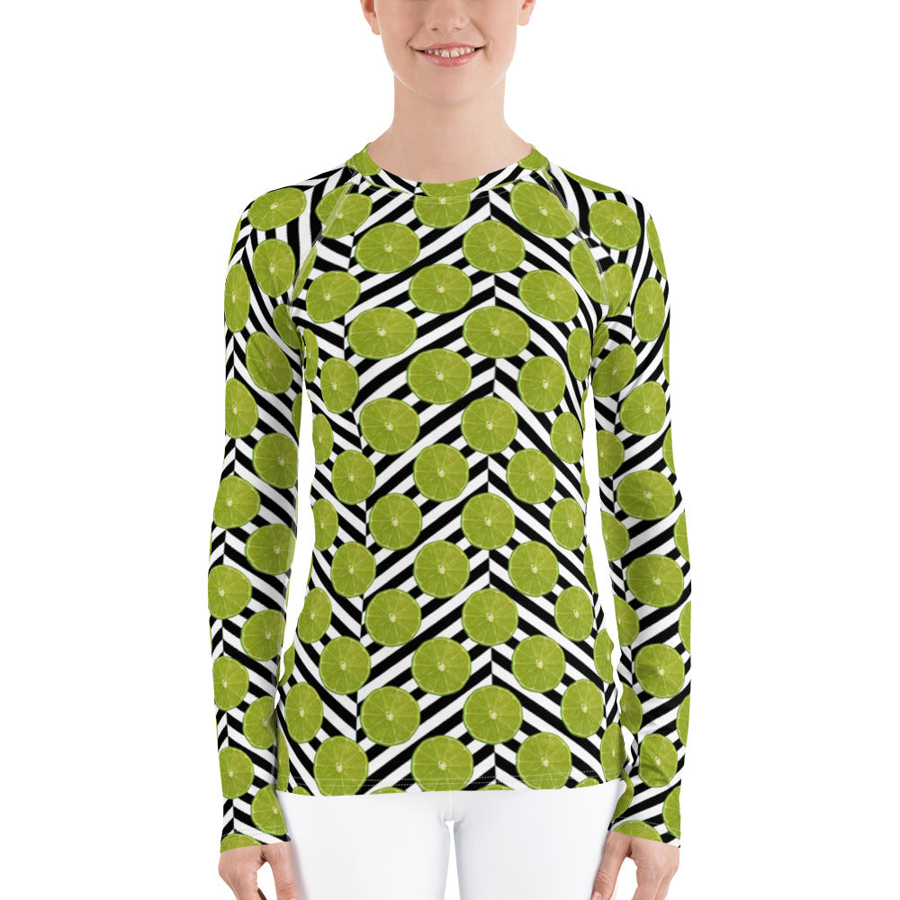 Citrus Celebration - Limes Away - Women's Rash Guard
