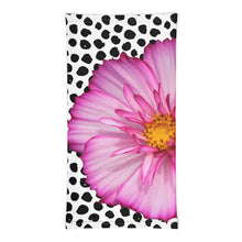 Load image into Gallery viewer, Neck Gaiter - Pink Flower - Polka Dots - Floral - Flower
