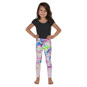 Kid's Leggings - Pink Pastel Swirls