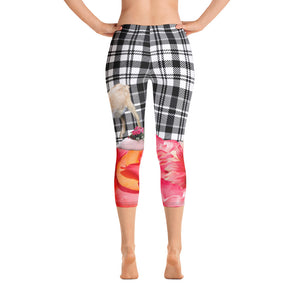 Capri Leggings - Goat, Flowers, Pigs, Plaid and More!  Conversation-Starter Leggings