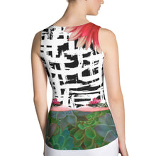 Load image into Gallery viewer, Pig and Succulent Tank Top - Athletic Shirt - Running Shirt