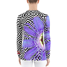 Load image into Gallery viewer, Purple Passion Flower - Passion Flower Floral Shirt - Purple Floral UPF Shirt