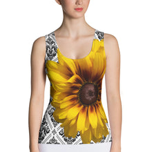 Load image into Gallery viewer, Sunflower Tank Top - Floral Tank Top - Yellow Flower Tank Top