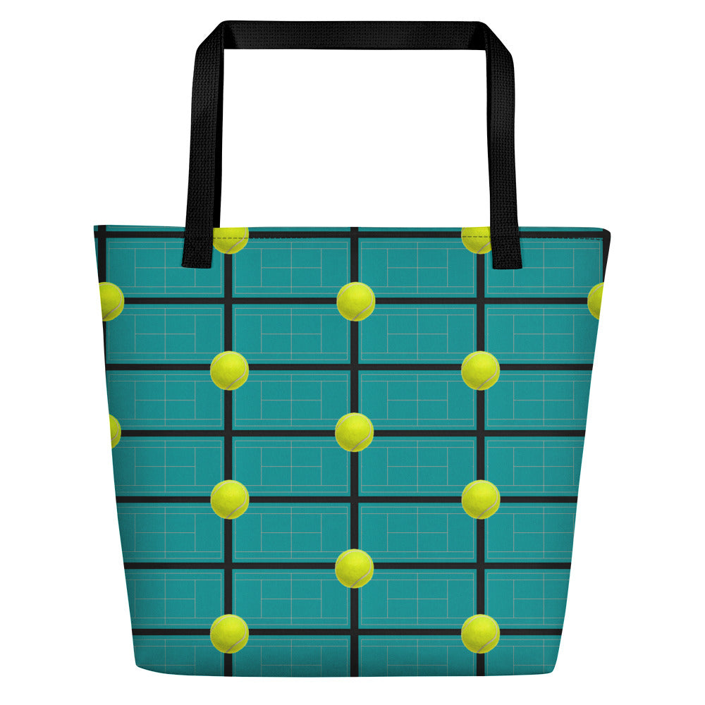 Tennis Theme Tote Bag