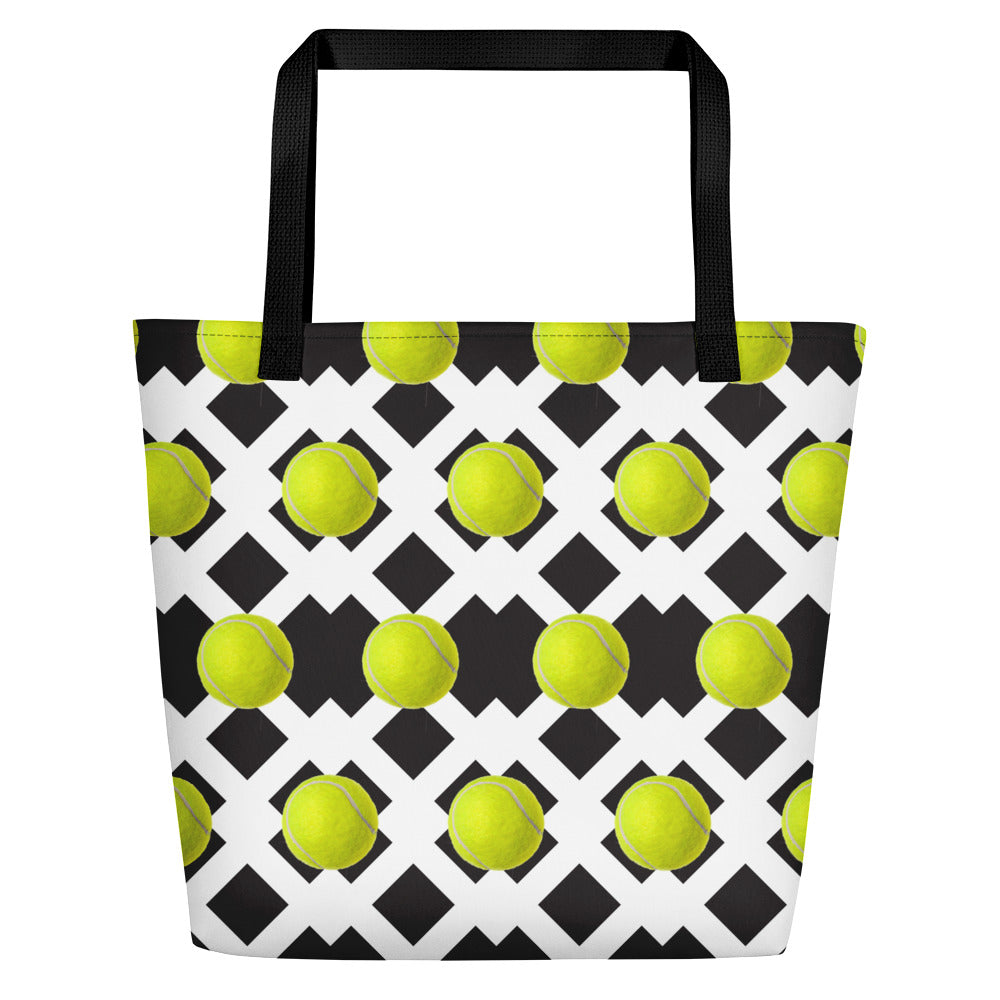 Beach Bag - Tennis Lover - Tennis Gift - Tennis Bag - Tennis Tote - Tennis Tote Bag - Tennis Theme
