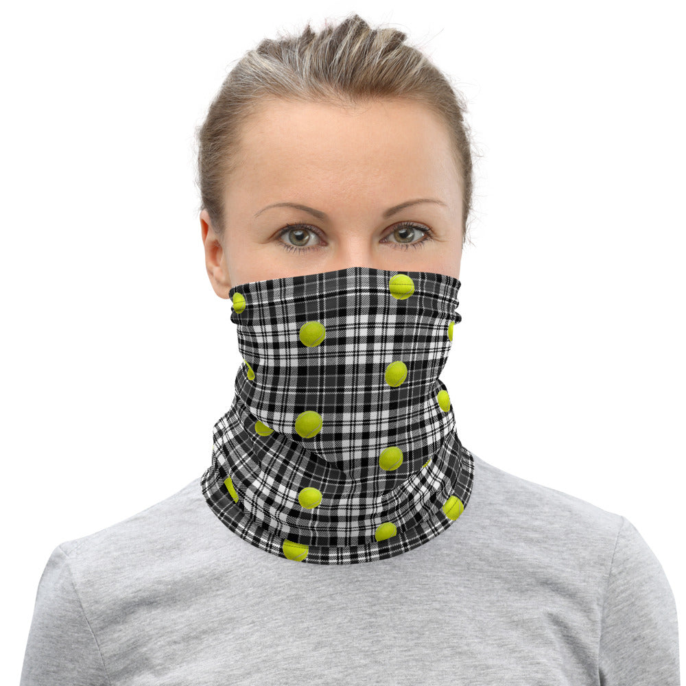 Neck Gaiter- Tennis Theme - Tennis Gift - Tennis Player - Tennis Mask - Tennis Lover - Tennis Ball - Tennis Balls - Tennis Fan