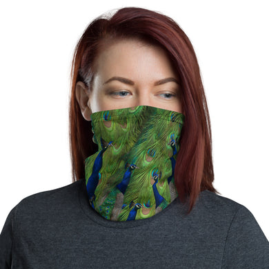Neck gaiter - Peacocks - Peacock Neck warmer - Peacock Face Shield