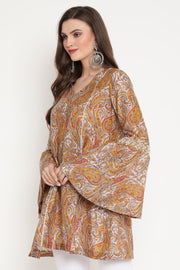 Ambi Jaal Print Tunic With Flared Sleeves