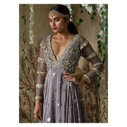 Grey Anarkali Gown