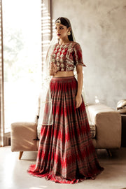 Geometrical Printed Lehenga Set