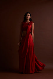 Red Silk Saree - BHUMIKA SHARMA