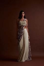 Ivory Saree - BHUMIKA SHARMA