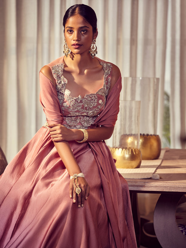 Queen Pink Lehenga Set