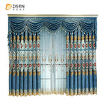 DIHINHOME Home Textile European Curtain Copy of DIHIN HOME Beige Exquisite Embroidered Valance ,Blackout Curtains Grommet Window Curtain for Living Room ,52x84-inch,1 Panel